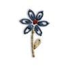 Fiore Blu e Beige ricamato