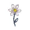 Fiore Bianco e Blu Ricamato