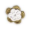 Fiore all'Uncinetto Beige corda e Bianco