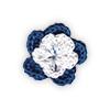 Fiore all'Uncinetto - Blu e Bianco