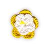 Fiore all'Uncinetto Giallo e Bianco