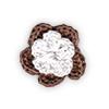 Fiore all'Uncinetto - Marrone e Bianco