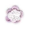 Fiore all'Uncinetto - Rosa e Bianco