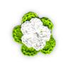 Fiore all'Uncinetto - Verde mela e Bianco