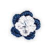Blue and White crocheted