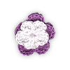 Fuchsia and White crocheted