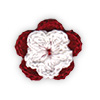 Red and White crocheted