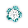 Tiffany and White crocheted