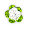 Apple Green and White crocheted